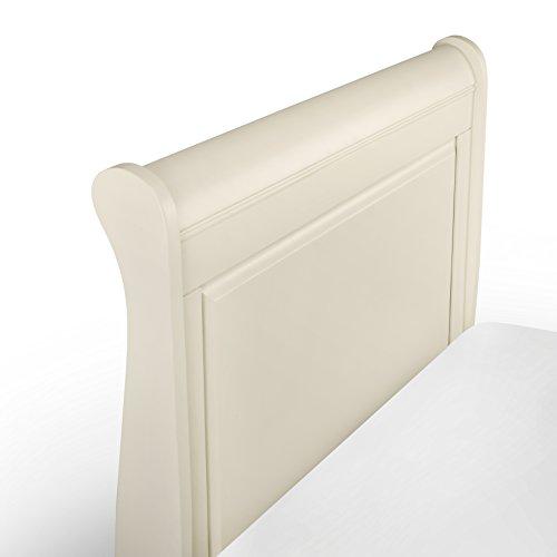 Julian Bowen Amelia Stone Sleigh Bed, King Size, 150 cm, Ivory