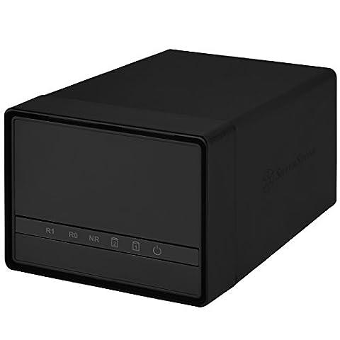 SilverStone SST-DS222 - Boîtier disque dur externe USB 3.0 avec 2 baies de stockage, pour HDD ou SSD 2.5 pouces,