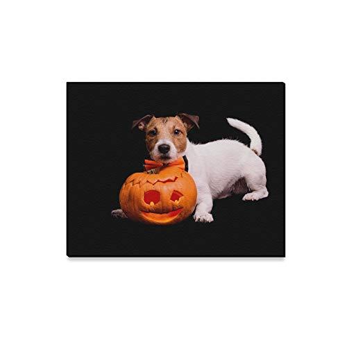 lerei Hund Traditionelle Halloween Geschnitzte Kürbis Auf Drucke Auf Leinwand Das Bild Landschaft Bilder Öl Für Zuhause Moderne Dekoration Druck Dekor Für Wohnzimmer ()