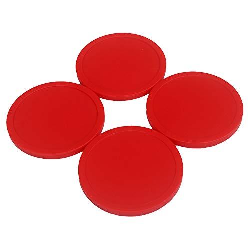 GFEU 4er Pack Air Hockey Puck Red Ersatz für Spieltischzubehör (75mm)