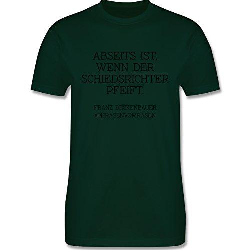 EM 2016 - Frankreich - Abseits ist wenn der Schiedsrichter pfeift - Herren Premium T-Shirt Dunkelgrün