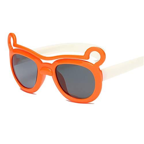 Wang-RX Polarisierte kinder sonnenbrille brillen cartoon jungen mädchen sonnenbrille silikagel tier uv400 6 farben