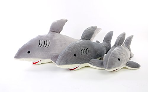 Check Out Dis Large Giant White Shark Soft Plush Stuffed Toy For