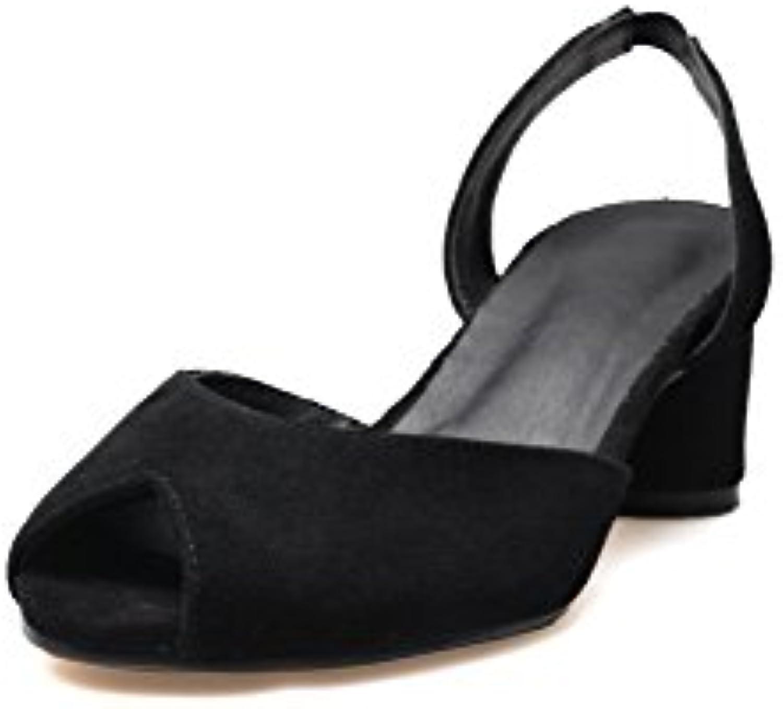 AdeeSu SLC04149,  s Compensées Femme Noir, - Noir - Noir, Femme 36.5B07FSSQ99XParent 427227