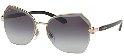 Bulgari Damen 0Bv6102B 20148G 59 Sonnenbrille, Gold (Pink/Grey),