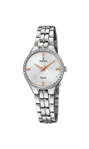 Festina Womens Analogue Classic Quartz Watch with Stainless Steel Strap F20218/1