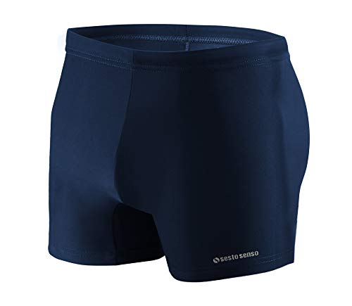 Sesto Senso Maillot de Bain Homme Boxer Trunks Shorts Pantalon (Tailles de M à 4XL) Slips Natation de Sport BD 313 (XL, Bleu)