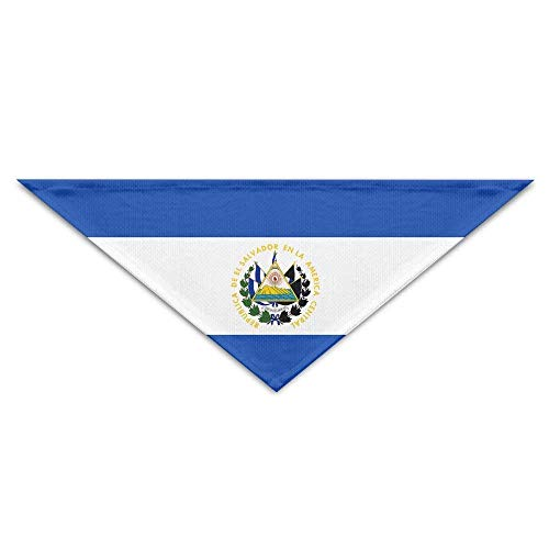 Elle Stricken Kleid (Striped Flag of EL Salvador Dog Bandanas Scarves Triangle Bibs Scarfs Fashionable Basic Neckerchief Cat Collars Pet Costume Accessory Kerchief for Large&Medium&Small Puppy)