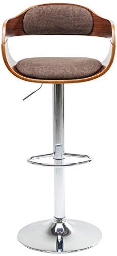 Kare Design Barhocker Monaco Schoko, eleganter Barstuhl in Lederoptik, höhenverstellbarer Polsterstuhl in Retro-Optik, mit Metallfuß, Braun (H/B/T) 106x48x49cm