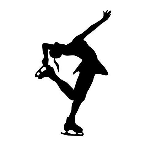 Auto Aufkleber Moderne Eiskunstlauf Wintersport Eis Tanzen Haltung Auto Aufkleber Und Abziehbilder 9X15 CM 2 stücke (Haltung Auto-aufkleber)
