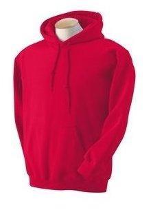 Gildan - Unisex Kapuzenpullover 'Heavy Blend' , Red, Gr. S (Sweatshirt Damen Hoodie)