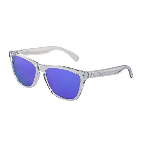 Oakley Frogskin Sunglasses One Size Polished Clear ~ Violet Iridium