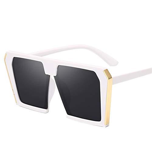 DAIYSNAFDN Vintage Große Quadratische Sonnenbrille Frauen Übergroße 90S Mode Cat Eye Sonnenbrille 6