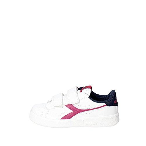 Diadora Scarpe Kids Sneakers Game P JR in Pelle Bianca 101172336-01-C7039
