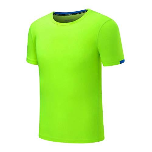 Eaylis Herren T-Shirt LäSsiges, Einfarbiges, Atmungsaktives T-Shirt Mit Rundhalsausschnitt, KurzäRmeliges Sport-Fitness-Shirt, Schnell Trocknende Kleidung -