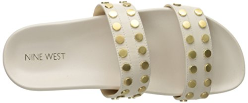 Nine West Zelise cuir Diapositive Sandal Off White