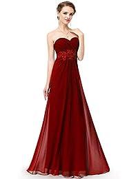 358d885df2f9 Ever-Pretty Vestito da Sera Lungo Donna Bustier con Appliques in Cintola  Impero 08864