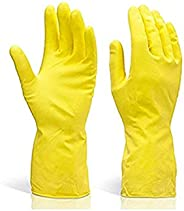 DeoDap Cleaning Gloves Reusable Rubber Hand Gloves, Stretchable Gloves for Washing Cleaning Kitchen Garden (Mi
