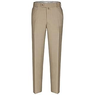 aubi: Herren Sommer Businesshose Anzughose Cool Finish Flat Front Modell 26 Beige Größe 25