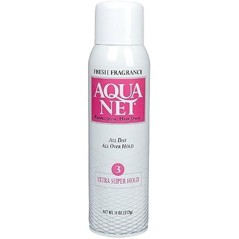 Aqua Net Extra Super Hold Aerosol Hair Spray, 11 oz by Aqua Net
