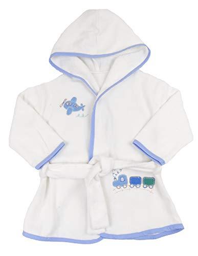 Gerneric Albornoz de bebé 100% algodón de rizo toalla 6 meses a 3 años