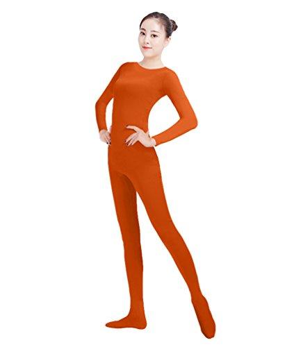 Kostüm Kaffee - NiSeng Erwachsener und Kind Ganzkörperanzug Kostüm Lange Ärmel Bodysuit Kostüm Zentai Offene Bodysuit Kostüm Kaffee L