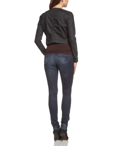 Mavi Damen Jacke RUBY; black coated str; 1163716023 Schwarz (16023; RUBY; black coated str)