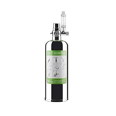Decdeal Kit de générateur de CO2 pour Aquarium, 1/2 / 4L, Kit de générateur de CO2 avec atomiseur électrovanne, kit de réacteur à dioxyde de Carbone pour installations d'aquarium