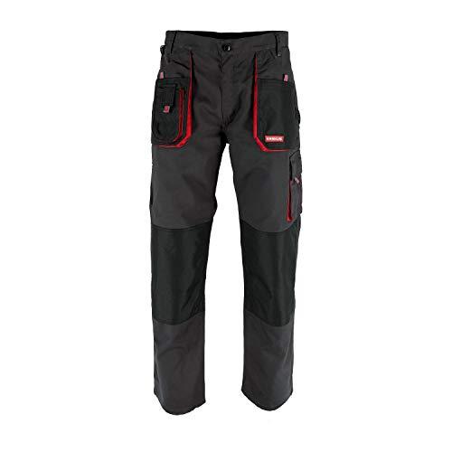 KREXUS 5.1 - Herren Arbeitshose - Schutzhose - Bundhose - Manner Arbeitskleidung - Arbeitsshorts (Schwarz mit Rot, XL, EX10102XL)