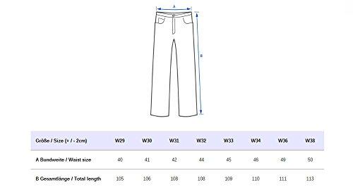 Jeans slim Nizza ID1412 des hommes de tricoteuse détruit Grau