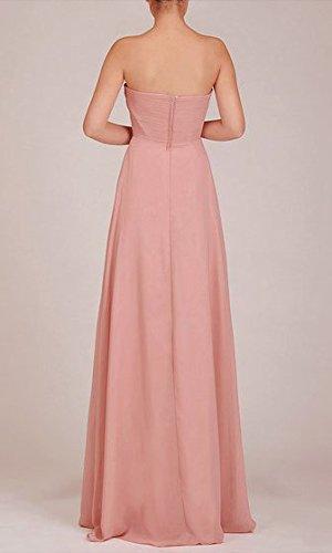 robe de soirée rose cendrée longue mousseline rose cendrée
