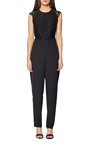 ESPRIT Collection Damen Jumpsuit 118EO1F025, Schwarz (Black 001), 42