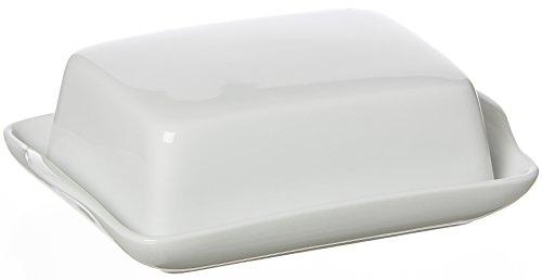 Ritzenhoff & Breker Snap Beurrier en porcelaine Blanc 18 x 14 x 7 cm