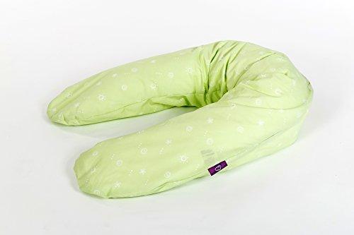 Coussin d'allaitement design 14 (vert) 190 cm