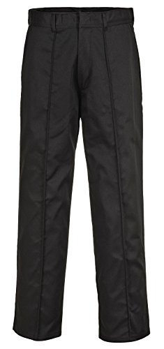 Portwest Wakefield Durable Pantalon de travail Pantalon avant pli de travail 71,1cm–121,9cm Noir - Noir