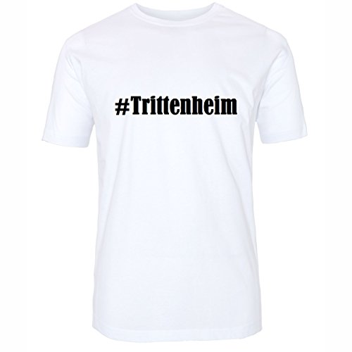 T-Shirt #Trittenheim Hashtag Raute für Damen Herren und Kinder ... in den Farben Schwarz und Weiss Weiß
