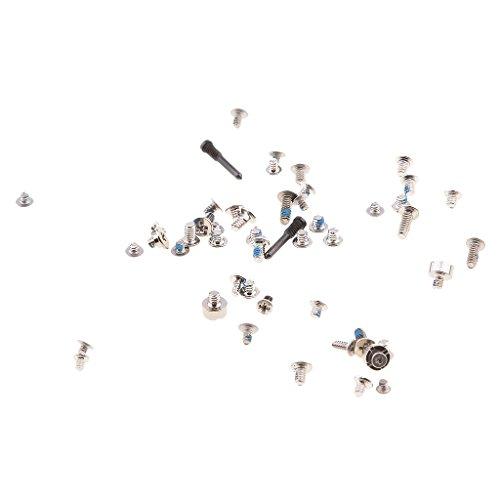 Almencla Set Viti di Ricambio Completo per Viti iPhone X + 2 Inferiori in Vetro Pentalobe - Nero
