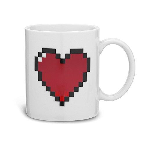 Incutex taza calor taza mágica cambia color - corazón