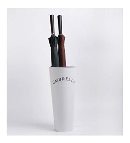 Schirmständer TongN Kreative feuchtigkeitsbeständige Schmiedeeisen Regenschirm Lagerung Eimer Home Mode Helle Konische (Farbe : Weiß)