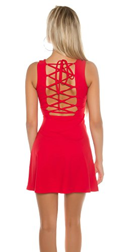 In-Stylefashion - Robe - Femme rouge Rot M Rouge