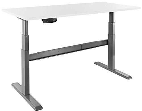 Celexon elektrisch höhenverstellbarer Schreibtisch Professional eAdjust-65120G - Grau - Höhe: 65-120cm - inkl. Tischplatte 175x75cm (Platten Je Papier Nach)