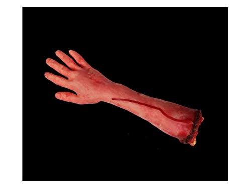 Komisch Simulation Arm Requisiten Körperteil Orgel Horror Bloody Zombie Streich Spielzeug Dekorationen für Halloween (Blut Hand) für die Dekoration