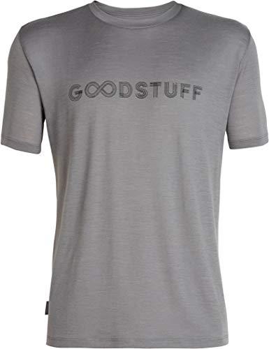 Icebreaker Herren Mens Tech Lite SS Crewe Good Stuff T-Shirt, Timberwolf, M