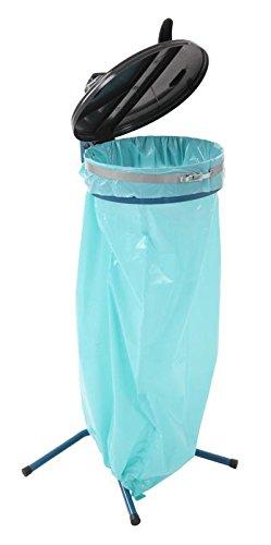 Trennbarer Beutelbehälter 70 Liter, Farbe:Blau/Schwarz