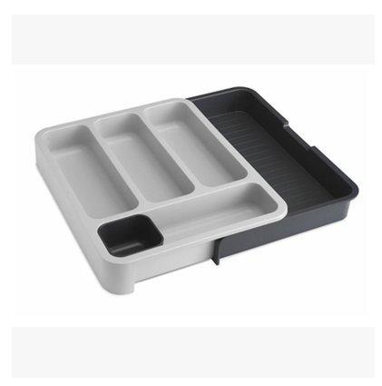 Organisateur/diviseurs tiroir extensible pour couverts, vaisselle, séparant les zones de tri Le tri des tiroirs, Gris Boîtes