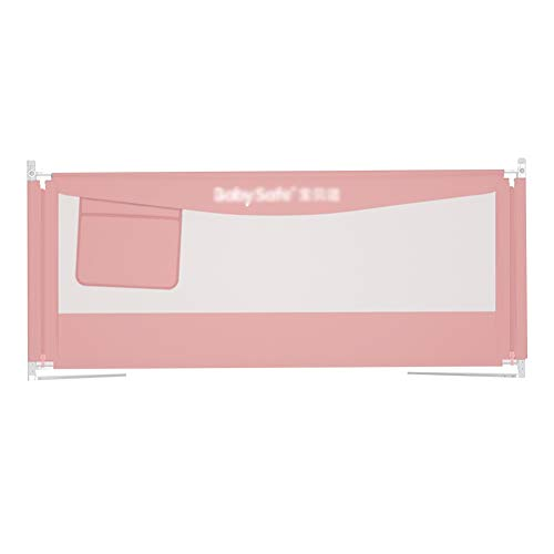 HENGYUS Bettgitter Bettgitter Wache Metallskelett Stabil 3-Gang-Verstellung Mesh Atmungsaktiv Nahtlose Lücke Dauerhaft Sicherheit Gesund, 3 Farben, 3 Größen (Color : Pink, Size : 150x49-63cm) -