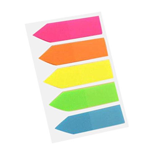 IYU_Dsgirh Retour Aux Fournitures Scolaires, Papeterie Créative Fluorescent Classification Index Coller Des étiquettes Autocollantes (B)