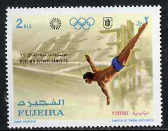 Fujeira 1971 Diving 2r from Munich Olympic Games perf set of 5 u/m, Mi 748* DIVING JandRStamps (21401) -