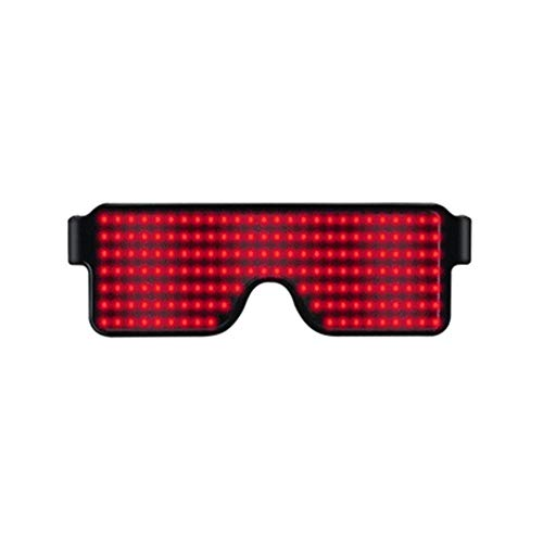 Neue 8 Farben Unisex LED Party Brille, Sonnenbrille Shutter Shades, USB wiederaufladbare Leuchtgläser, Neon Party Supplies Party Favors