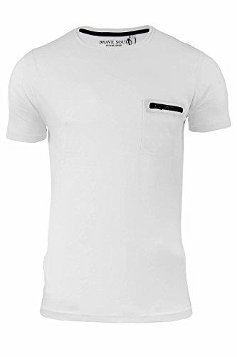 Brave Soul -  T-shirt - Collo a U  - Maniche corte  - Uomo White
